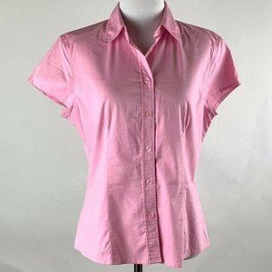 New York & CO top medium pink button down career